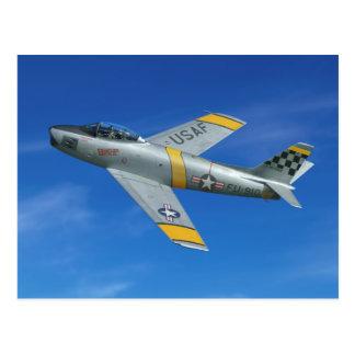 """Cartão Postal Macha de F-86F """"Beautious """""""
