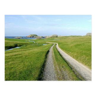 Cartão Postal Machair, ilha de Iona