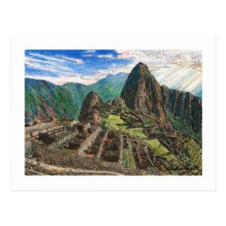 Cartão Postal Machu Picchu