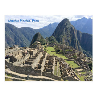 Cartão Postal Machu Picchu, Peru