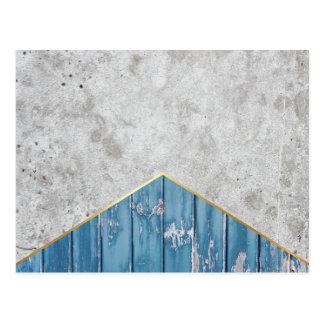 Cartão Postal Madeira azul #347 da seta concreta