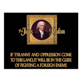 Cartão Postal Madison em inimigos estrangeiros