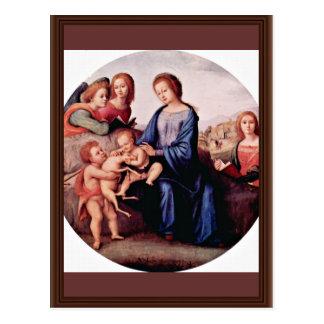 Cartão Postal Madonna com John The Baptist, St Margaret e