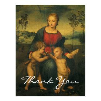 Cartão Postal Madonna de Raphael do Goldfinch