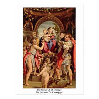 Cartão Postal Madonna de St George por Antonio a Dinamarca