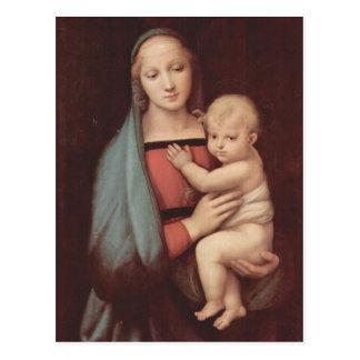 Cartão Postal Madonna Del Granduca por Raphael