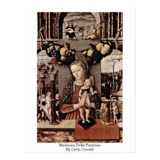 Cartão Postal Madonna Della Passione por Carlo Crivelli