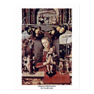 Cartão Postal Madonna Della Passione por Crivelli Carlo