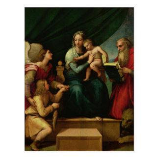 Cartão Postal Madonna dos peixes c.1513