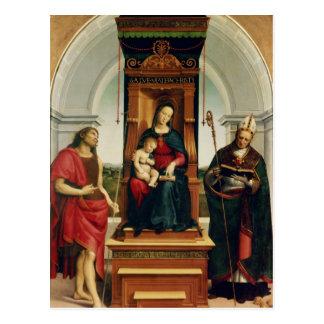 Cartão Postal Madonna e a criança