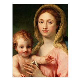 Cartão Postal Madonna e criança com dois anjos, 1770-73