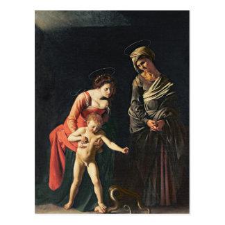 Cartão Postal Madonna e criança com uma serpente, 1605