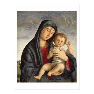 Cartão Postal Madonna e criança (óleo no painel) 2