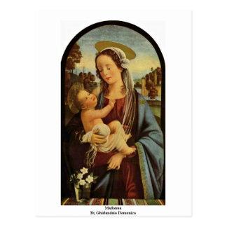 Cartão Postal Madonna por Ghirlandaio Domenico