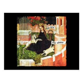 Cartão Postal Madonna que guardara o unicórnio branco