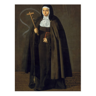 Cartão Postal Madre Maria Jeronima de la Fuente, 1620