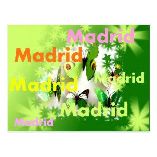 Cartão Postal Madrid primavera inundación de colores y mariposas
