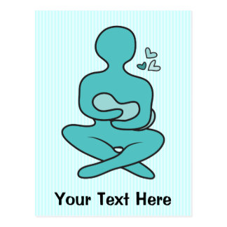 Cartão Postal Mãe & bebê amamentando