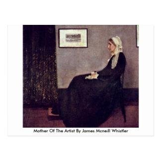 Cartão Postal Mãe do artista pelo assobiador de James Mcneill