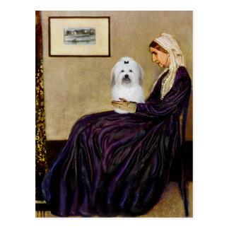 Cartão Postal Mãe dos assobiadores - algodão de Tulear 2