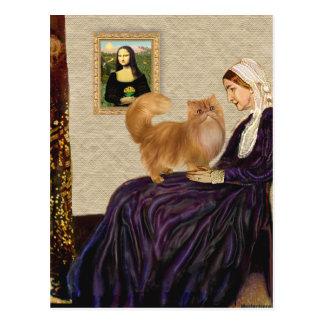 Cartão Postal Mãe dos assobiadores - gato persa vermelho