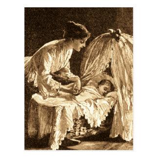 Cartão Postal Mãe e bebê do vintage