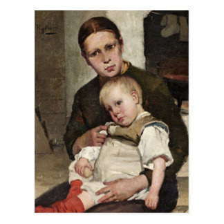 Cartão Postal Mãe e criança