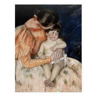 Cartão Postal Mãe e criança, 1890s