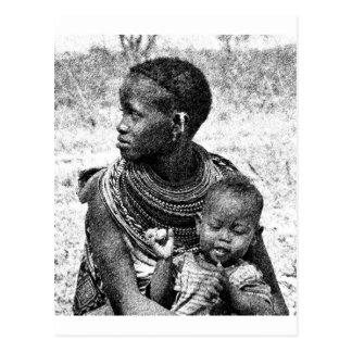 Cartão Postal Mãe e criança de Samburu