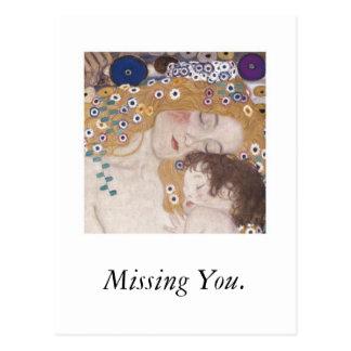 Cartão Postal Mãe e criança, faltando o