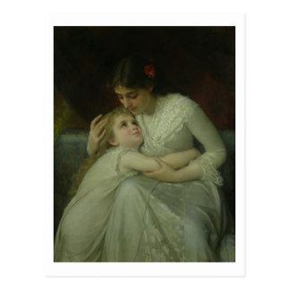 Cartão Postal Mãe e criança (óleo em canvas)