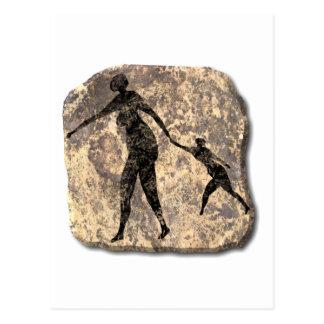 Cartão Postal Mãe e criança-pedra