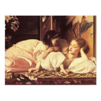Cartão Postal Mãe e criança - senhor Frederick Leighton