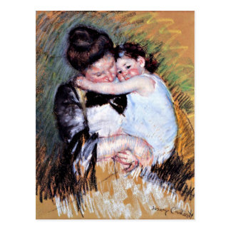 Cartão Postal Mãe e criança - trabalhos de arte por Mary