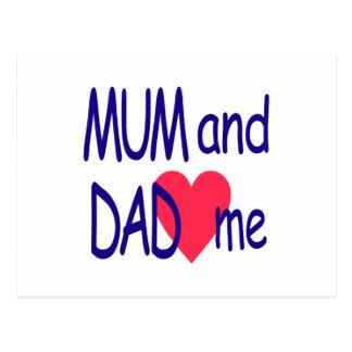 Cartão Postal Mãe e pai mim, mamã