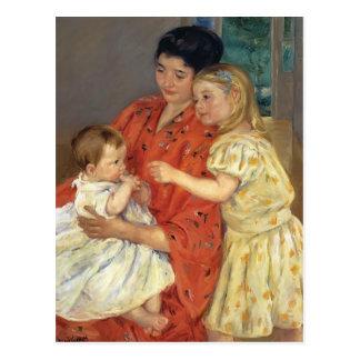 Cartão Postal Mãe e Sara de Mary Cassatt- que admiram o bebê