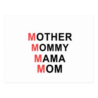 Cartão Postal Mãe, mamãe, Mama, mamã