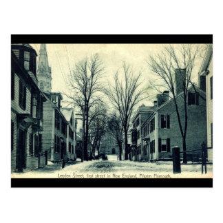 Cartão Postal MÃES c1908 de Plymouth do peregrino da rua de