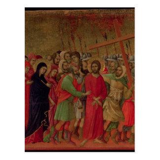 Cartão Postal Maesta: A estrada ao calvário, 1308-11