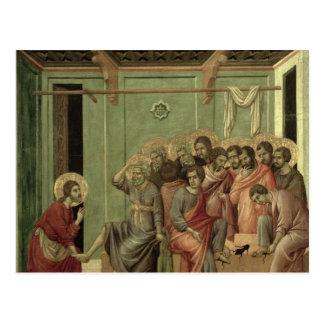 Cartão Postal Maesta: Cristo que lava os pés dos discípulo
