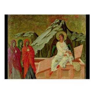 Cartão Postal Maesta: Os três Maries no túmulo do cristo