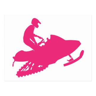 Cartão Postal Magenta-Snowmobiler