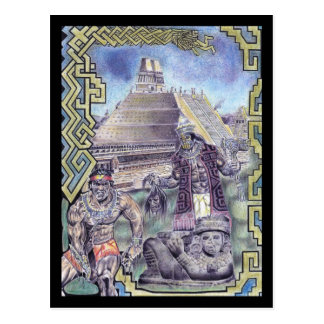 Cartão Postal Mágica asteca
