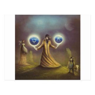 Cartão Postal mágica da fantasia do feiticeiro
