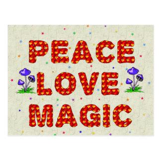 Cartão Postal Mágica do amor da paz