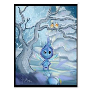 Cartão Postal Mágica do inverno
