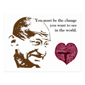 Cartão Postal Mahatma Gandhi