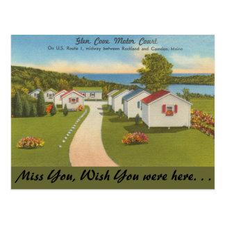 Cartão Postal Maine, corte do motor da angra do vale, Camden