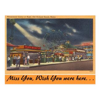 Cartão Postal Maine, divertimentos, praia velha do pomar,
