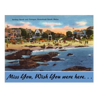 Cartão Postal Maine, praia & casas de campo, praia de Kennebunk
